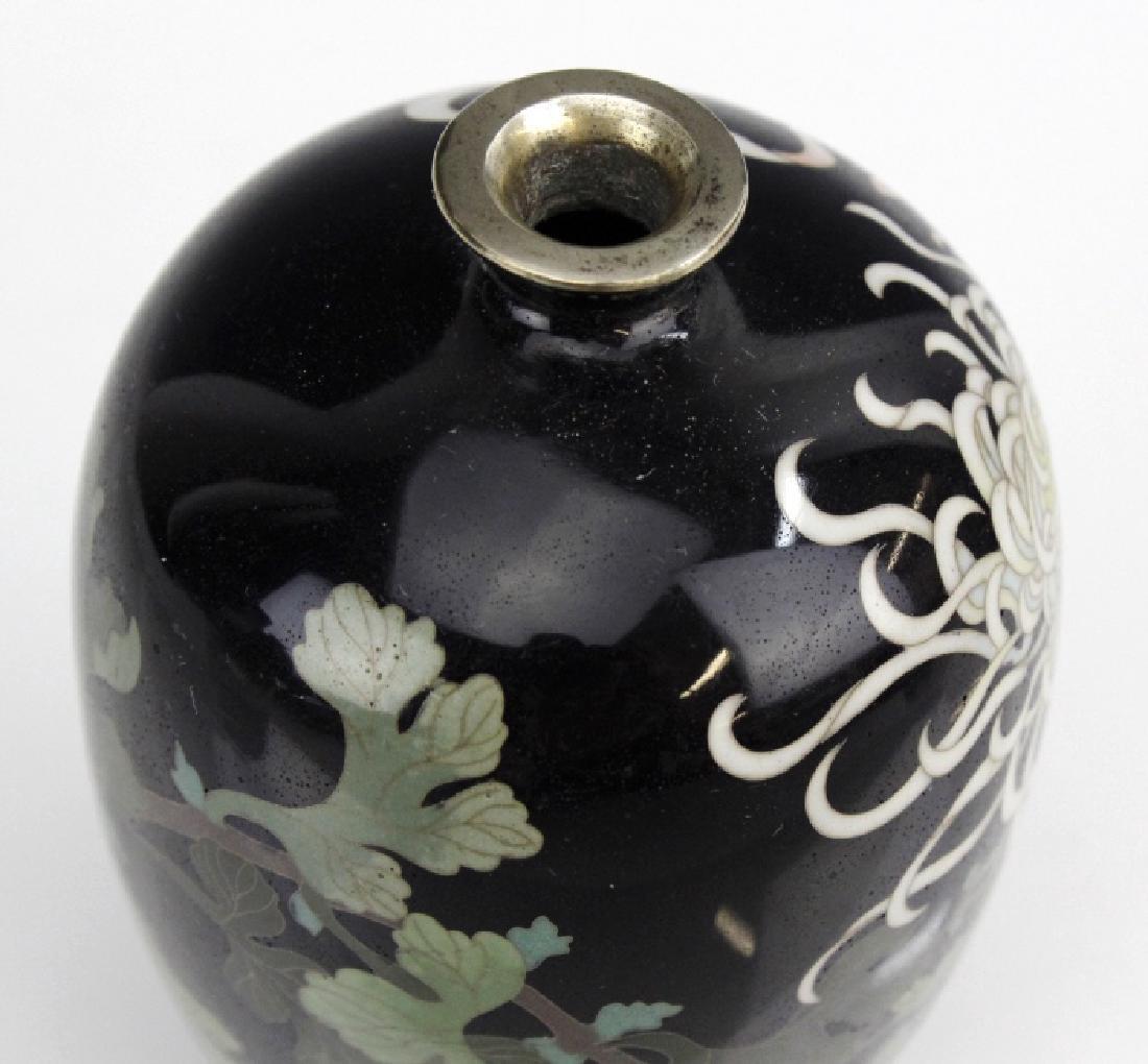 Japanese Cloisonne Enamel Vase Meiji Period - 5