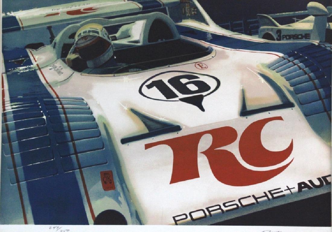 Ronald Allen Kleemann Porsche Signed Litho BASS MUSEUM