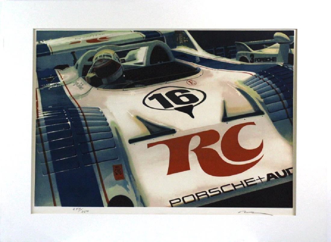 Ronald Allen Kleemann Porsche Signed Litho BASS MUSEUM - 2