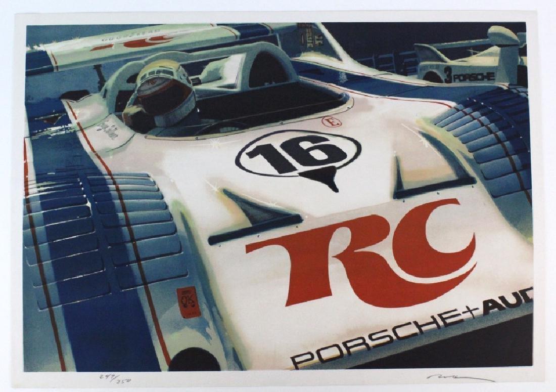 Ronald Allen Kleemann Porsche Signed Litho BASS MUSEUM - 5