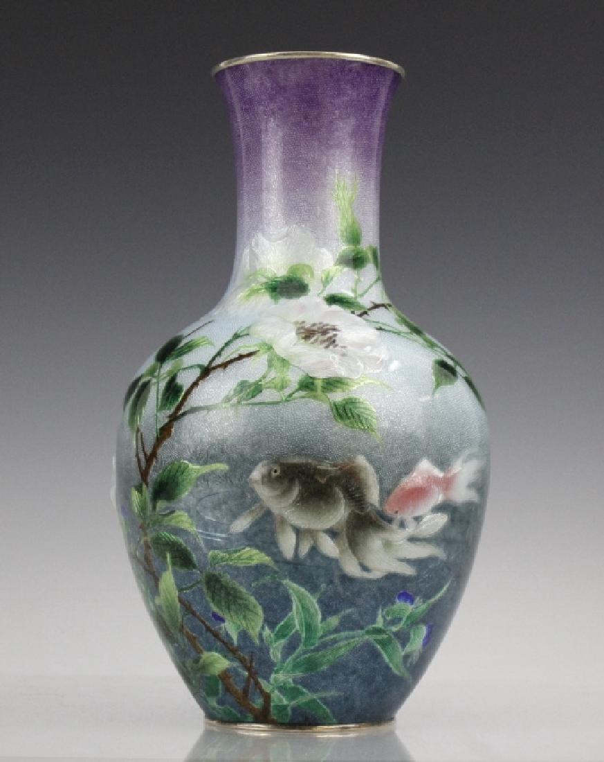 Cloisonne Enamel Vase by Hayashi Kodenji, Meiji