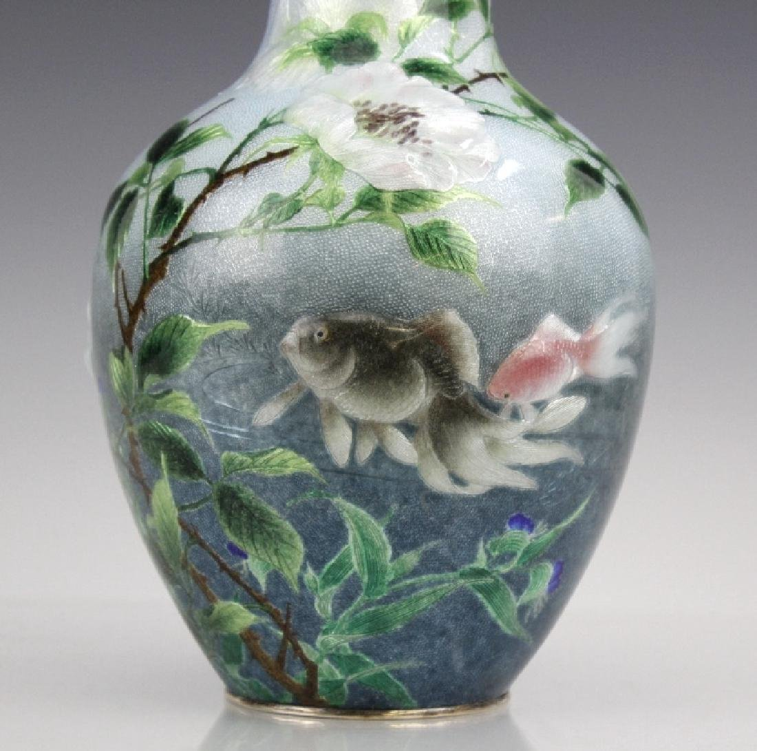 Cloisonne Enamel Vase by Hayashi Kodenji, Meiji - 2