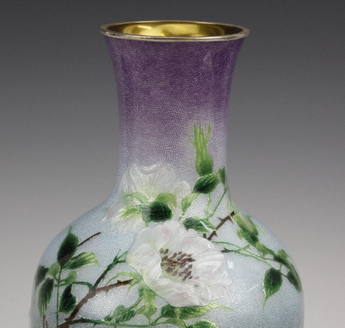 Cloisonne Enamel Vase by Hayashi Kodenji, Meiji - 3