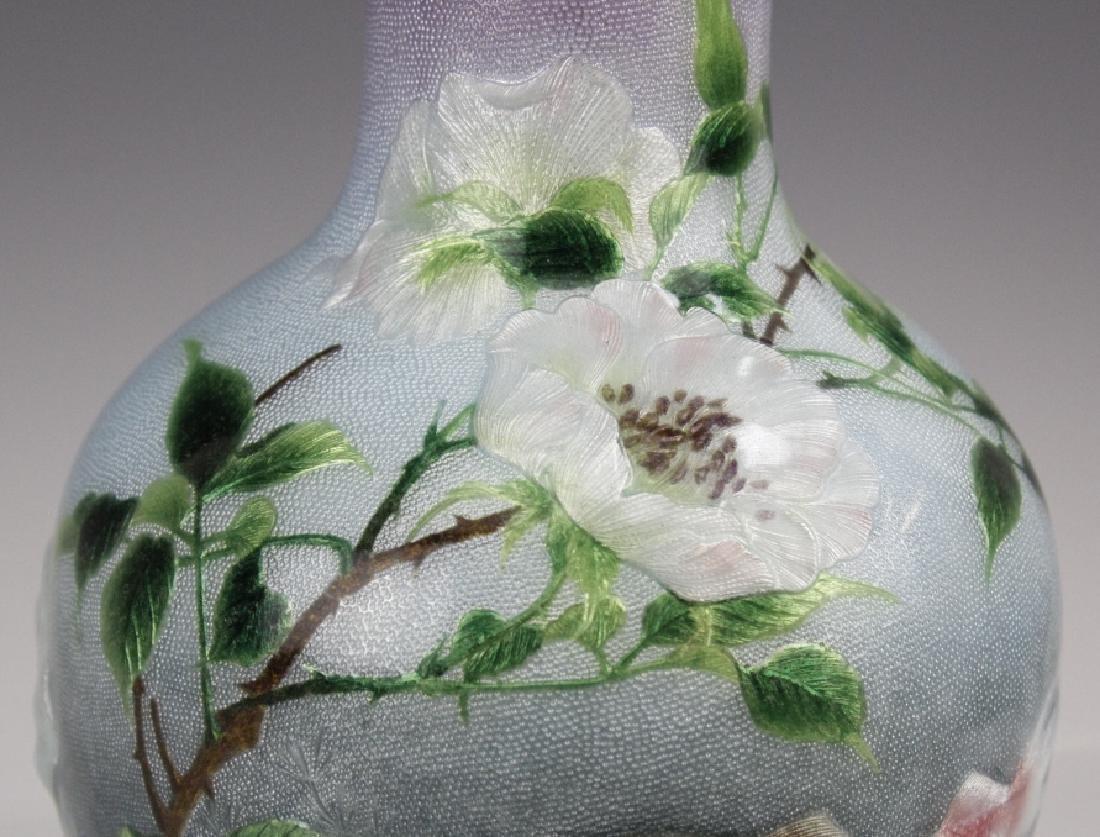 Cloisonne Enamel Vase by Hayashi Kodenji, Meiji - 4