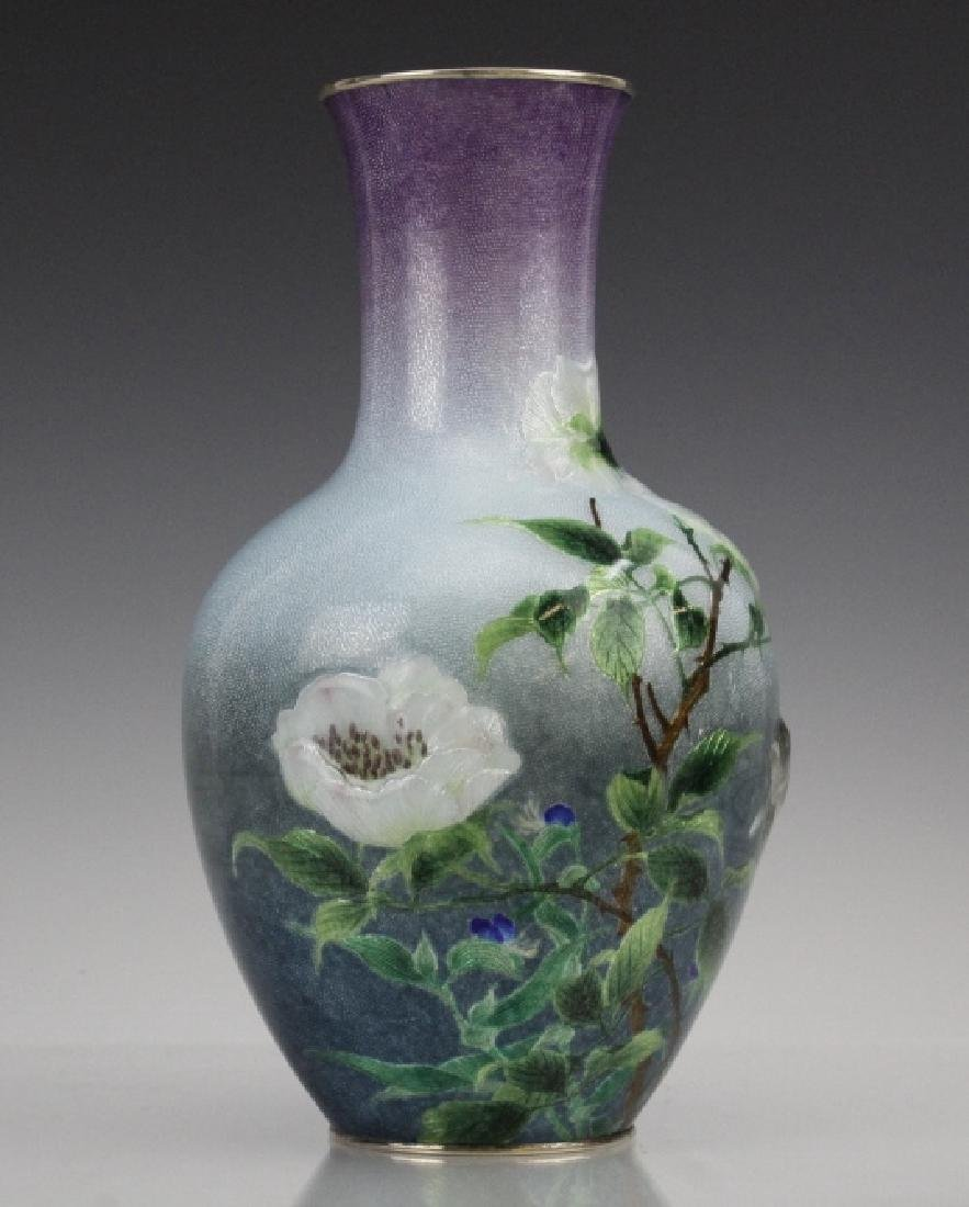 Cloisonne Enamel Vase by Hayashi Kodenji, Meiji - 5
