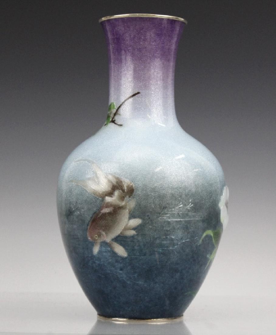 Cloisonne Enamel Vase by Hayashi Kodenji, Meiji - 6