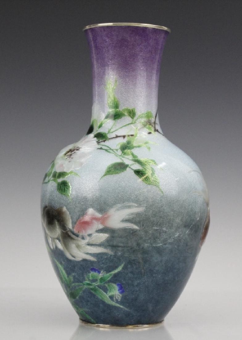 Cloisonne Enamel Vase by Hayashi Kodenji, Meiji - 7