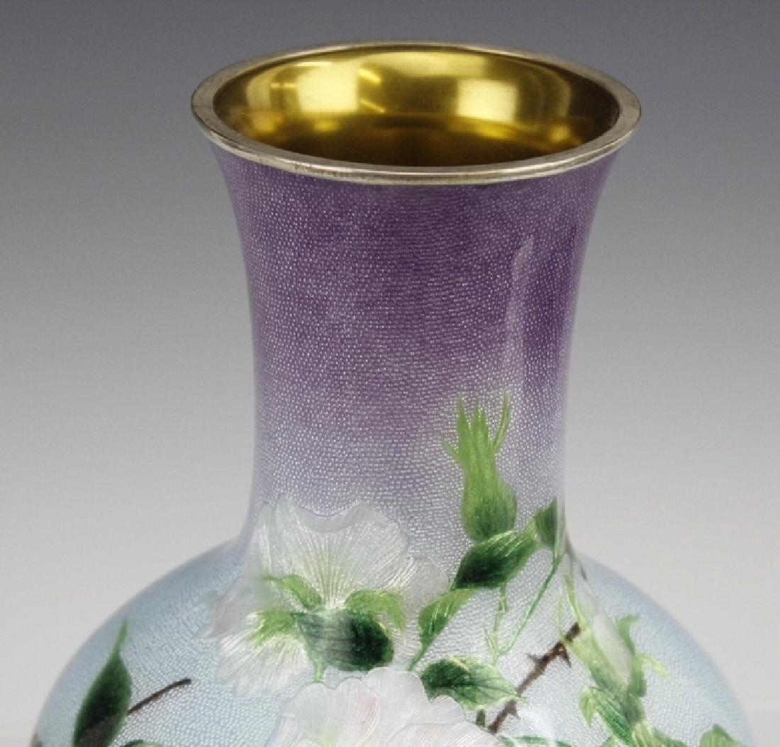 Cloisonne Enamel Vase by Hayashi Kodenji, Meiji - 8