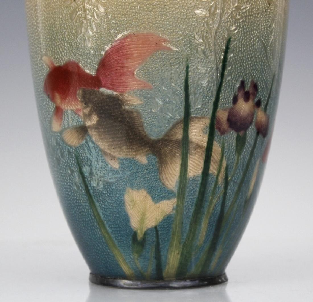 Musen Enamel Koi Fish Vase by Ogasawaro Shuzo - 2