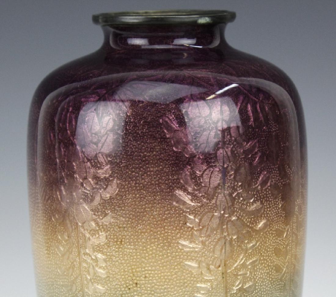 Musen Enamel Koi Fish Vase by Ogasawaro Shuzo - 3