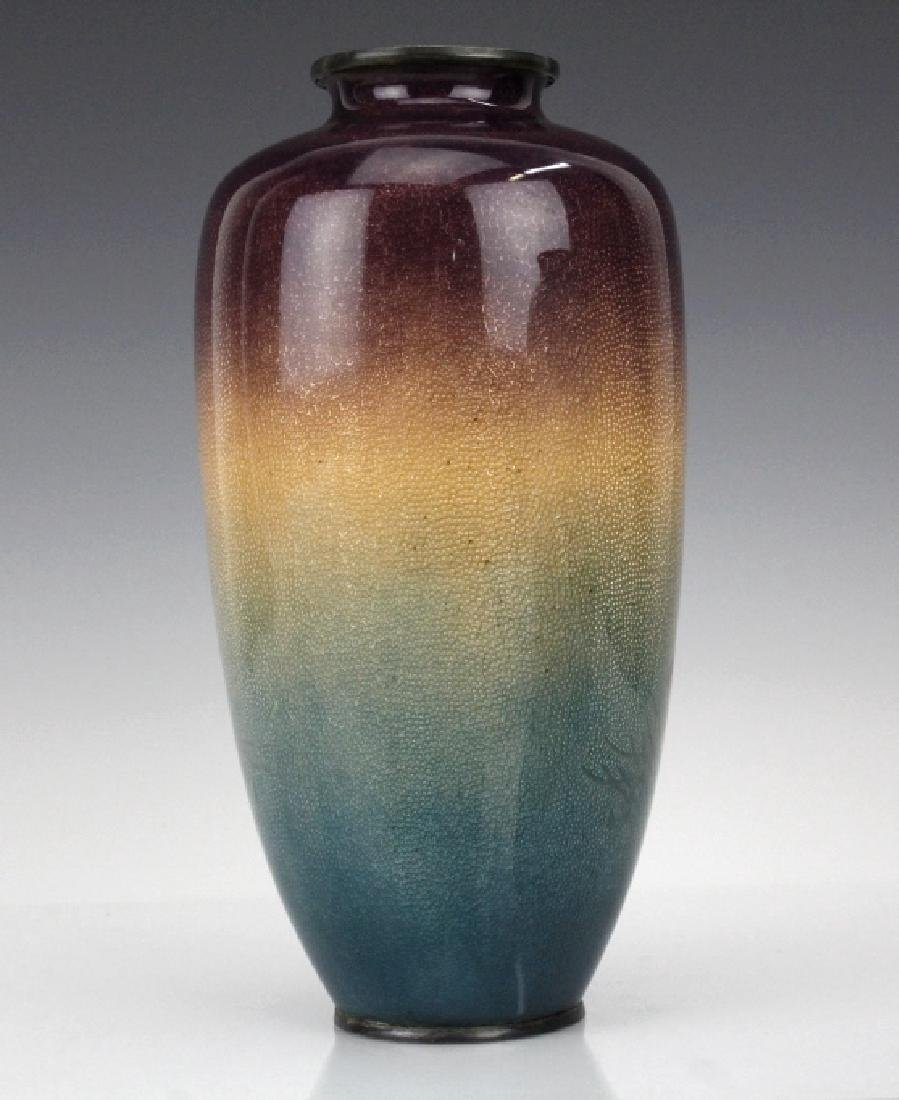 Musen Enamel Koi Fish Vase by Ogasawaro Shuzo - 4