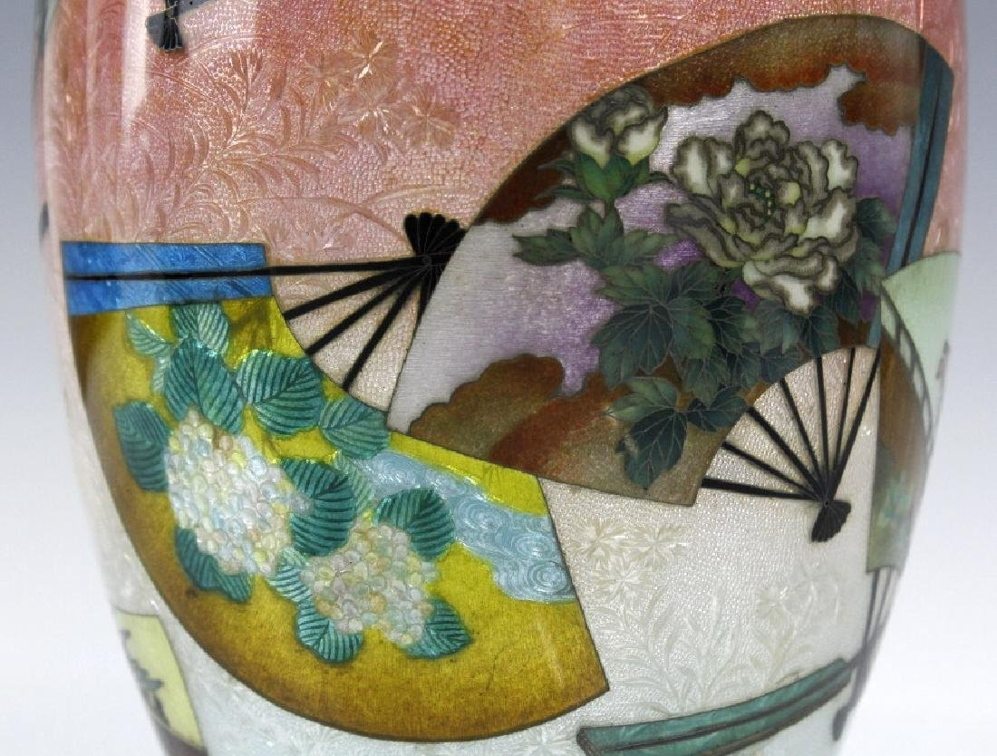 Japanese Cloisonne Enamel Vase Meiji Period - 6