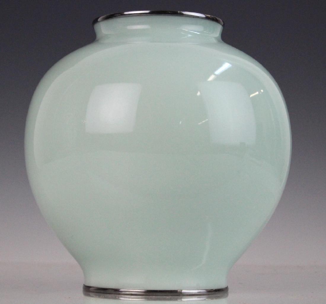 Japanese Cloisonne Enamel Koi Vase by Ando Jubei - 5