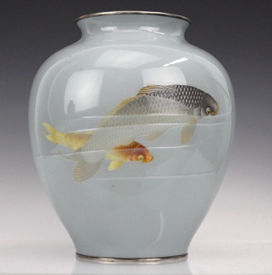 Vintage Ando Jubei Studio Cloisonne Enamel Vase