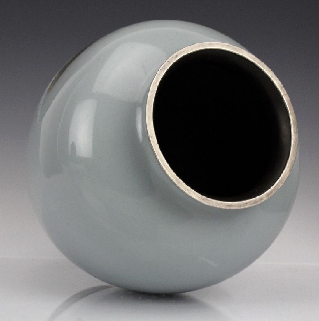 Vintage Ando Jubei Studio Cloisonne Enamel Vase - 6