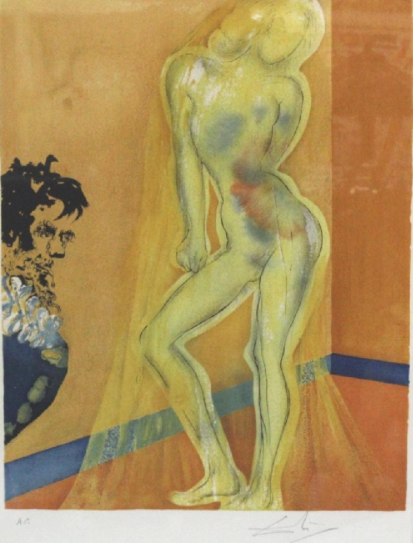Salvador Dali Signed Artist Proof Nude from BASS MUSEUM