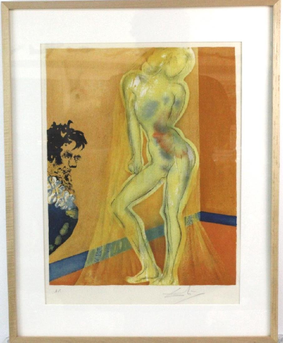 Salvador Dali Signed Artist Proof Nude from BASS MUSEUM - 2