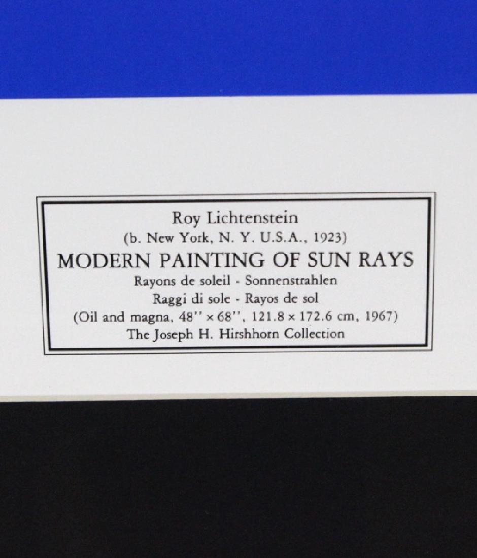 1972 Roy Lichtenstein 1923-1997 Modern Rays Poster - 2