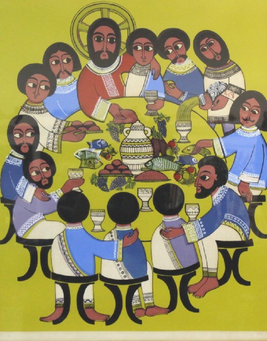 Ilse Hansen Last Supper Signed Color Litho BASS MUSEUM
