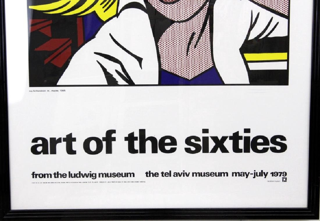 Roy Lichtenstein Art of the Sixties Litho Poster - 4