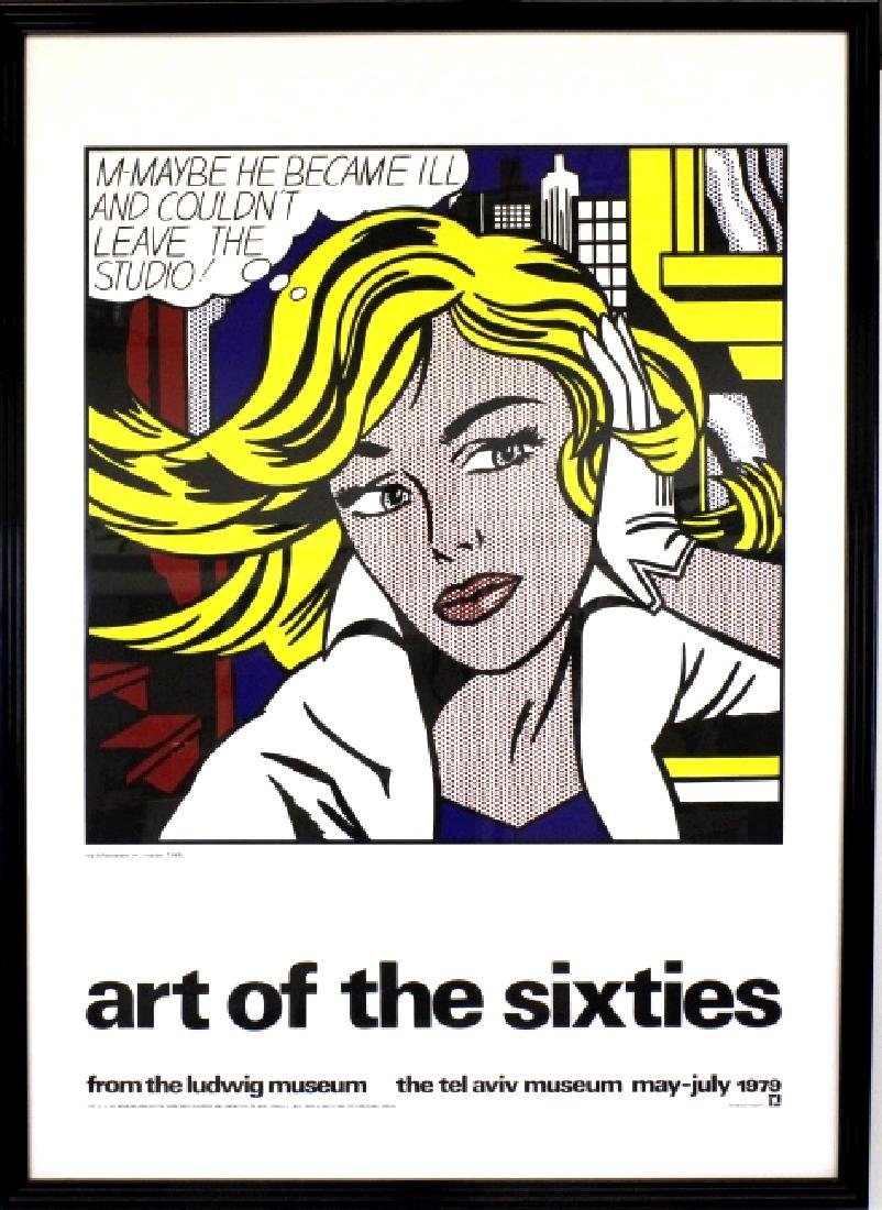 Roy Lichtenstein Art of the Sixties Litho Poster - 5