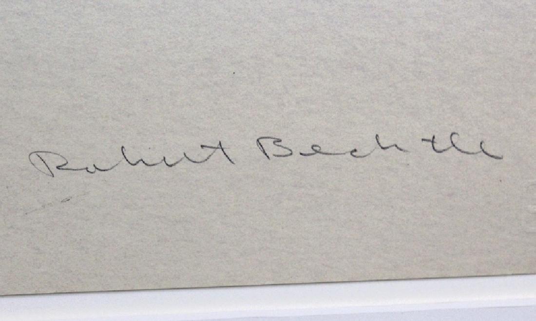 Signed Robert Alan Bechtle Litho from BASS MUSEUM - 3