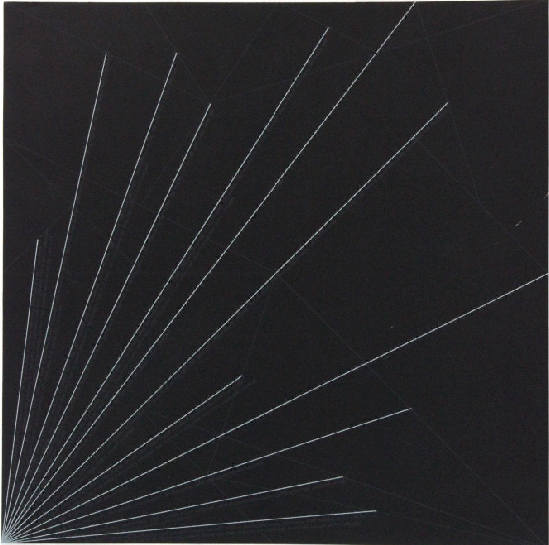Sol LeWitt Signed Etching Geometric Lines BASS MUSEUM