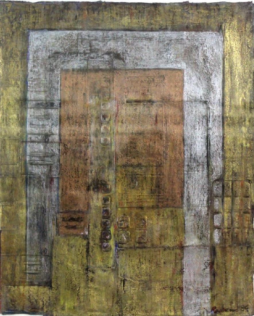 Leo Rabkin Signed Metallic Funky Pastel BASS MUSEUM