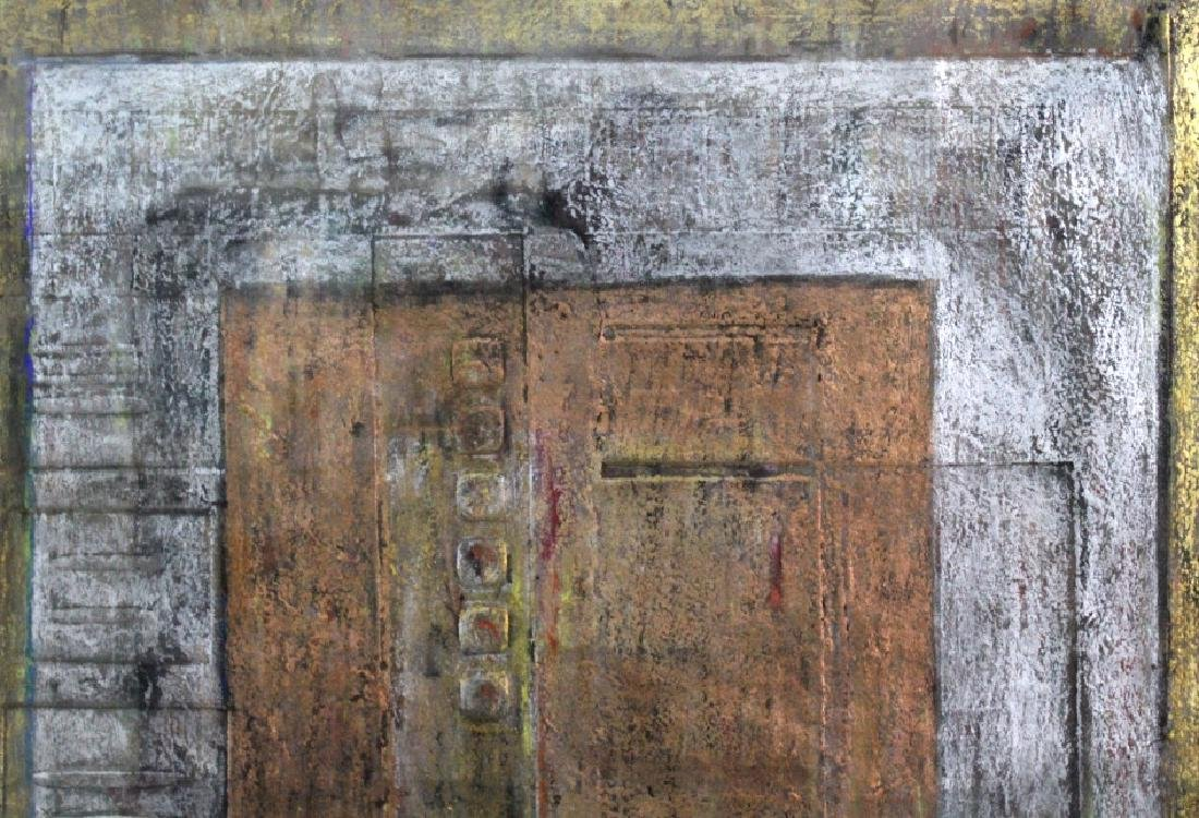 Leo Rabkin Signed Metallic Funky Pastel BASS MUSEUM - 5