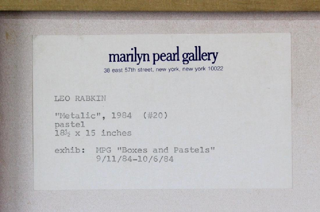 Leo Rabkin Signed Metallic Funky Pastel BASS MUSEUM - 6