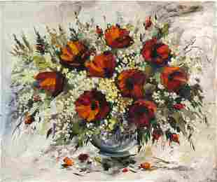 L. Lyar Floral Still Life Oil Painting from BASS MUSEUM
