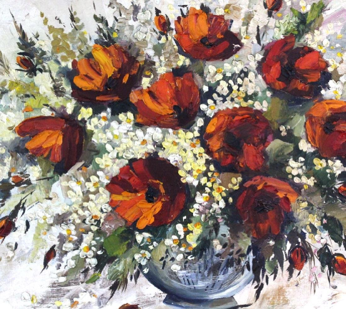 L. Lyar Floral Still Life Oil Painting from BASS MUSEUM - 2