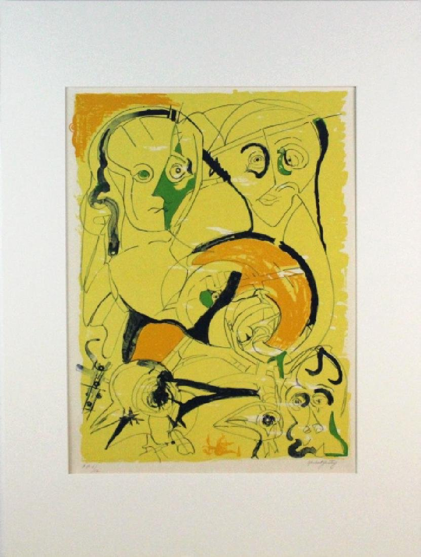 Herbert Gentry Signed AP Faces Litho from BASS MUSEUM - 2