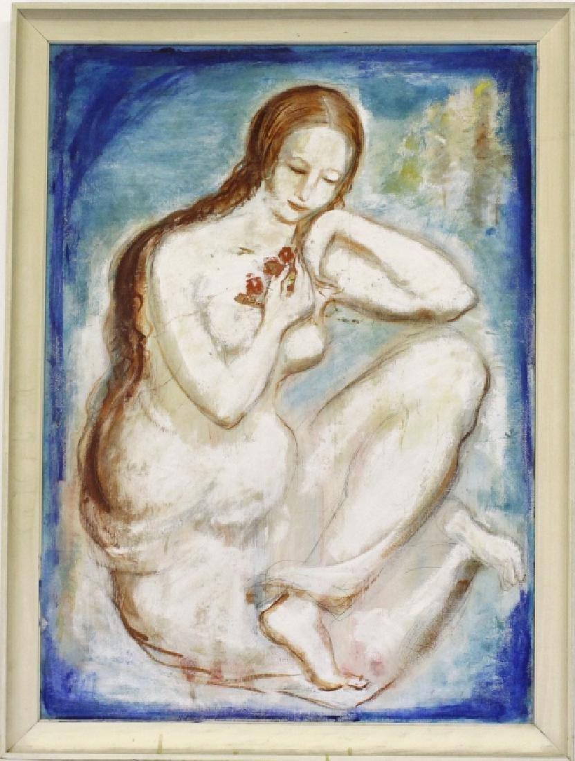 Louis Slobodkin Modern Female Nude Painting BASS MUSEUM - 2