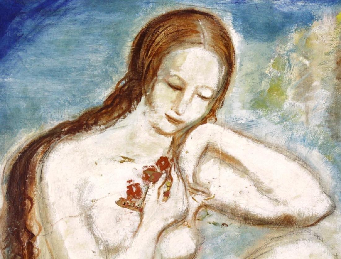 Louis Slobodkin Modern Female Nude Painting BASS MUSEUM - 4