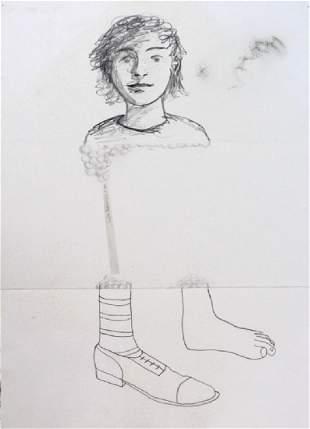 Zisco Mensua Graphite Drawing on Paper BASS MUSEUM