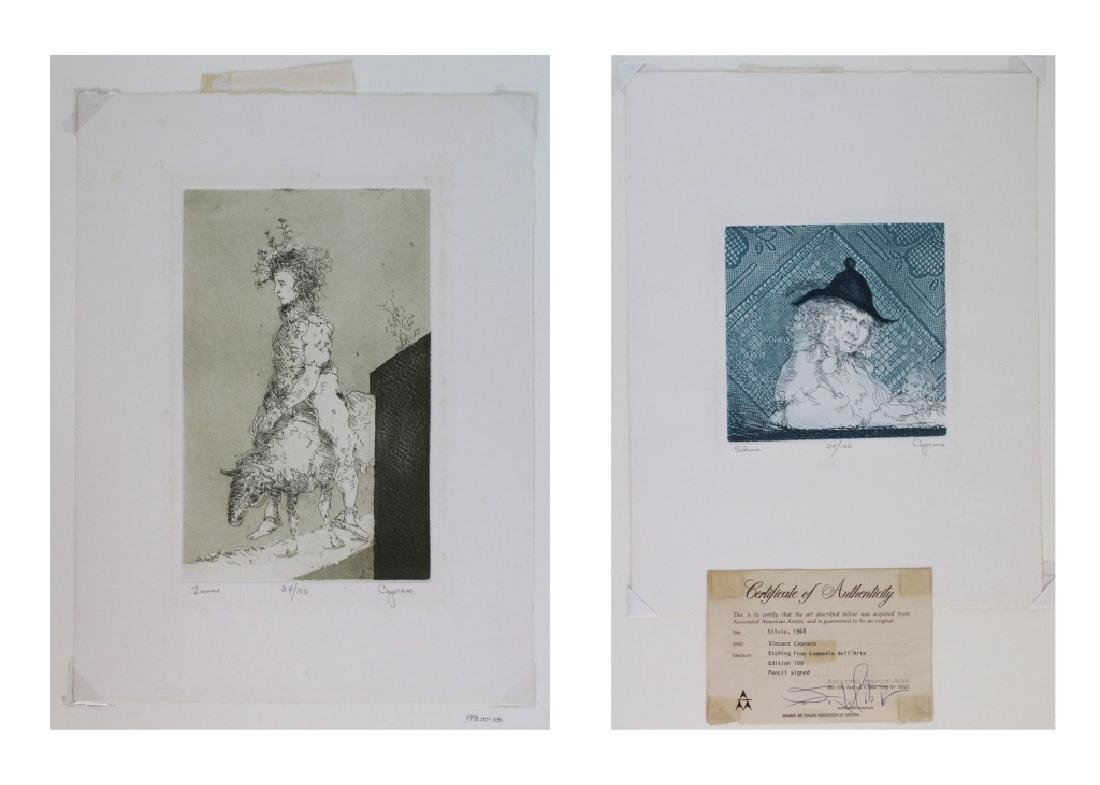 LOT of 6 Cincent Capraro Signed Etchings BASS MUSEUM - 4