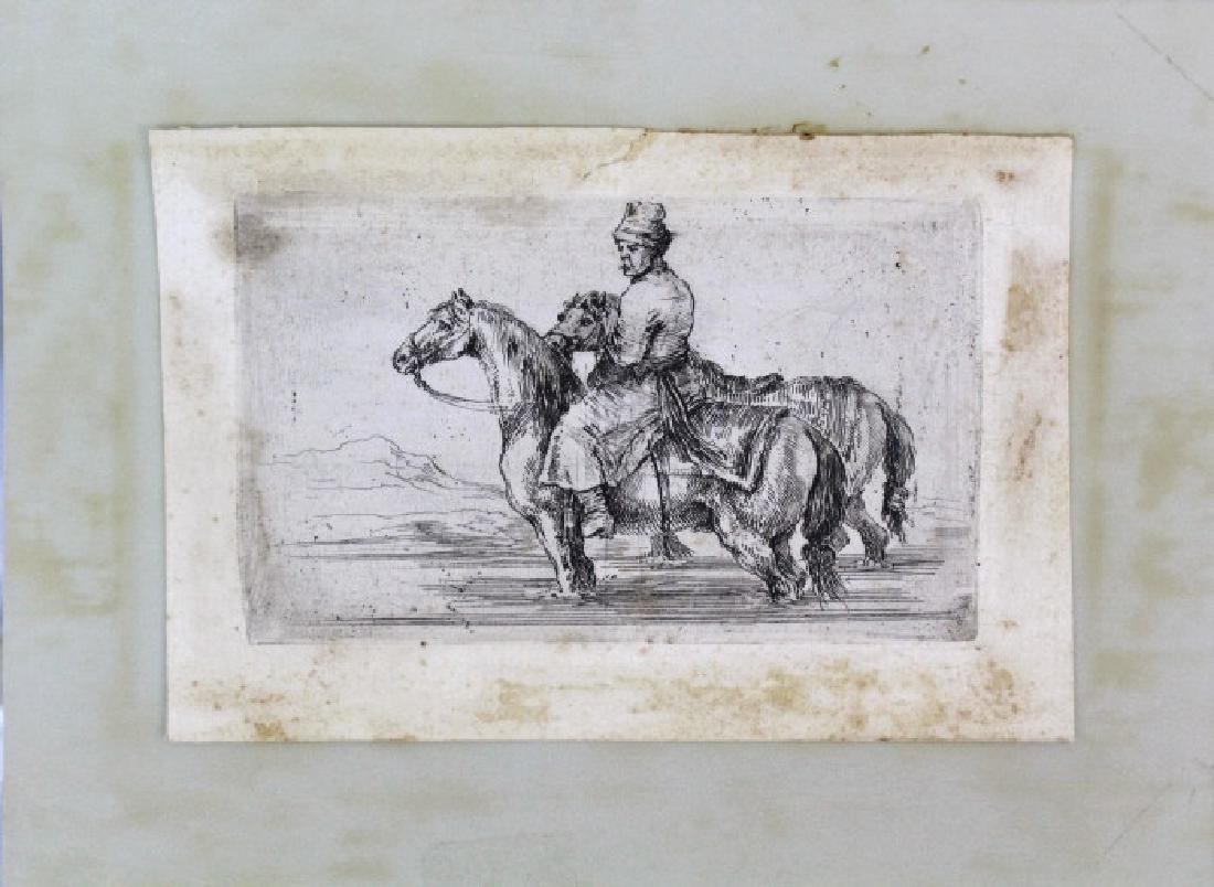 Stefano Della Bella Horseback Etching.from BASS MUSEUM - 2