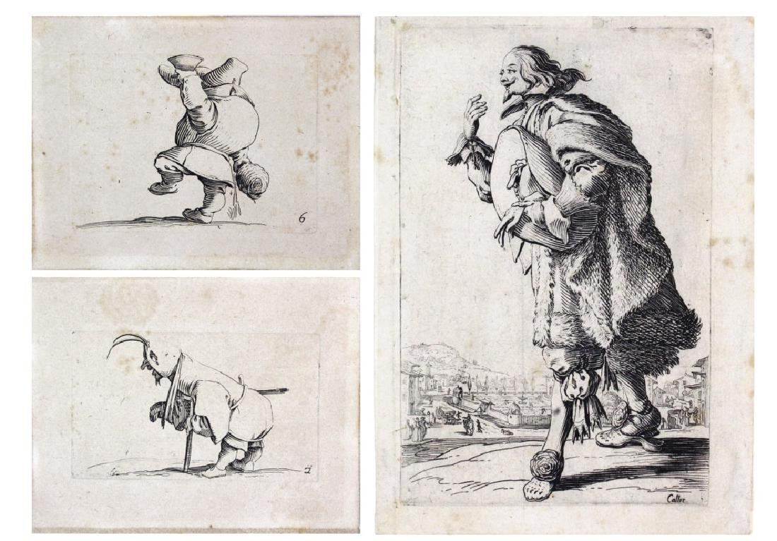 Jacgues Callot Collection of 3 Etchings BASS MUSEUM