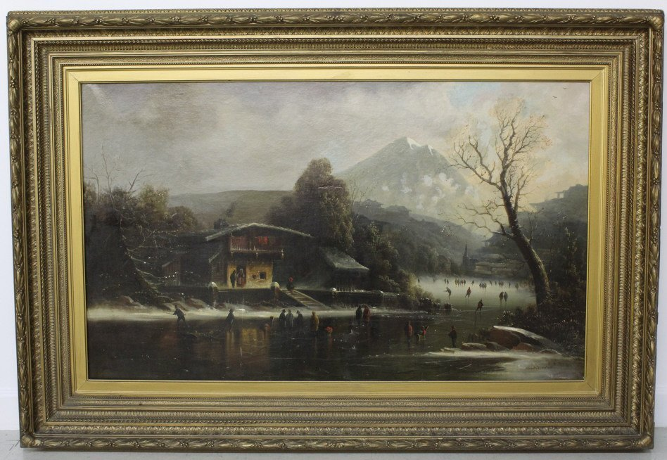 Albert Bierstadt Mountain Landscape Oil Painting