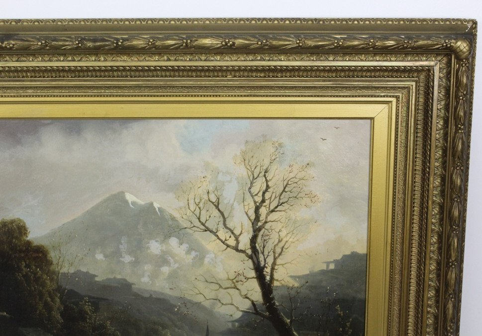 Albert Bierstadt Mountain Landscape Oil Painting - 5