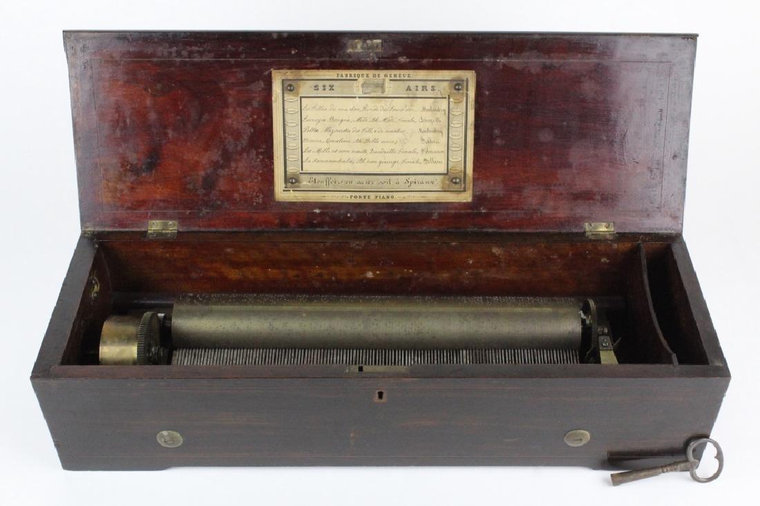 Antique Victorian Era Swiss Cylinder Music Box