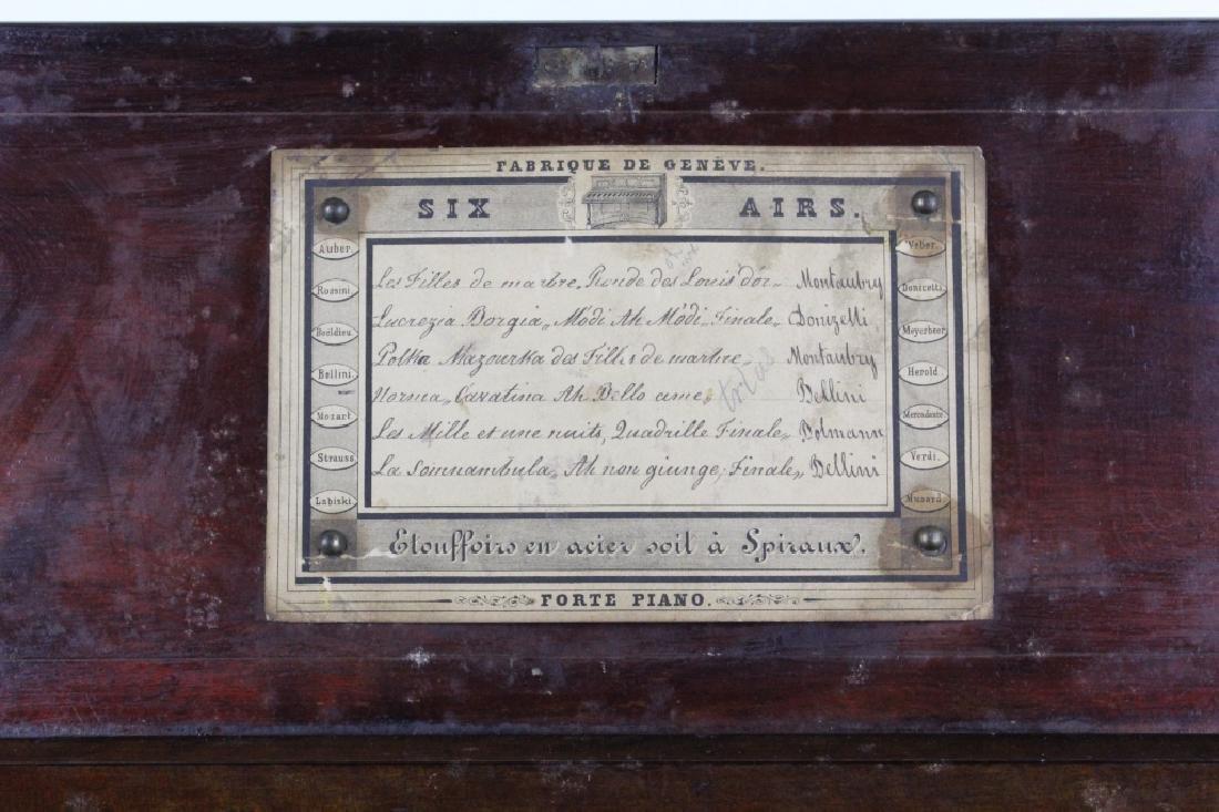 Antique Victorian Era Swiss Cylinder Music Box - 5