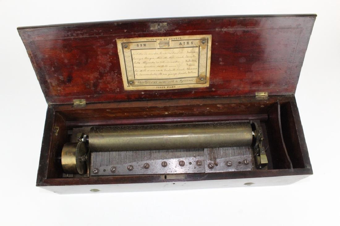 Antique Victorian Era Swiss Cylinder Music Box - 6