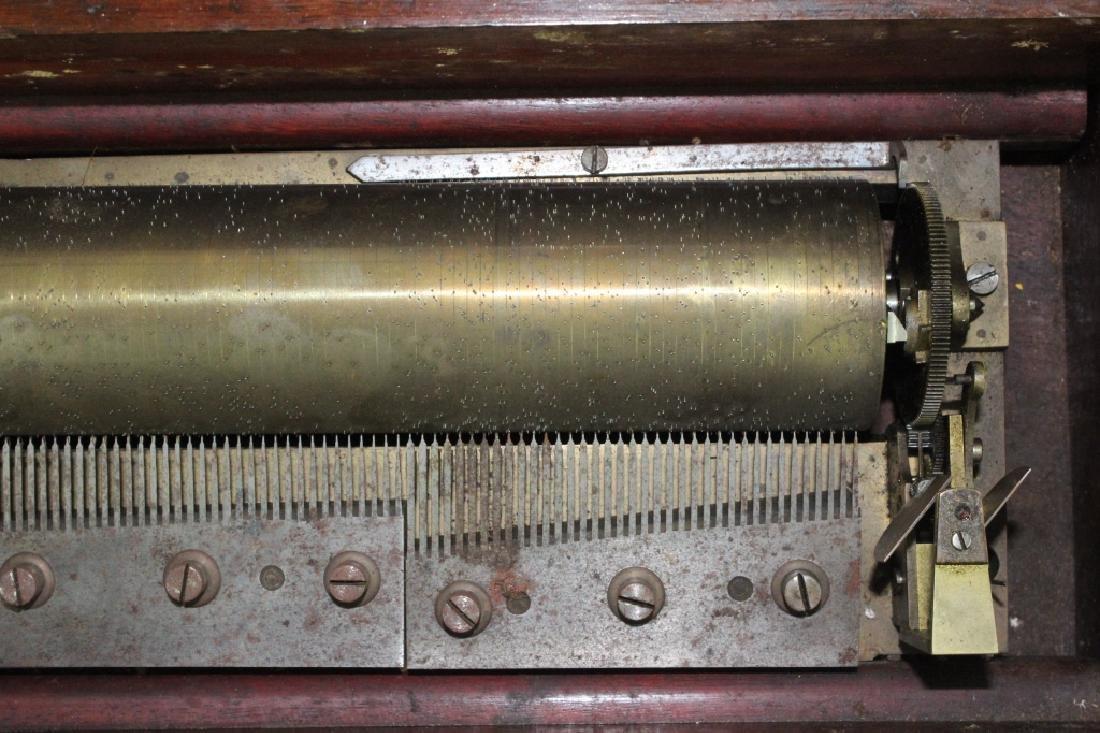 Antique Victorian Era Swiss Cylinder Music Box - 7
