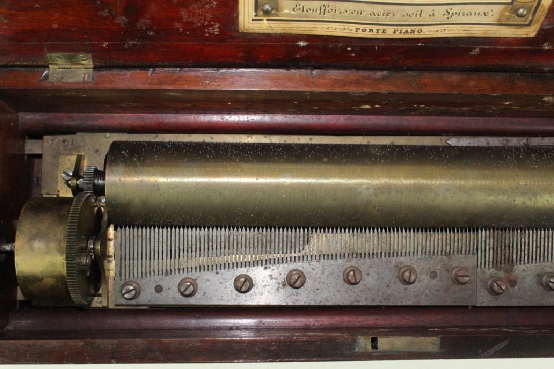 Antique Victorian Era Swiss Cylinder Music Box - 8