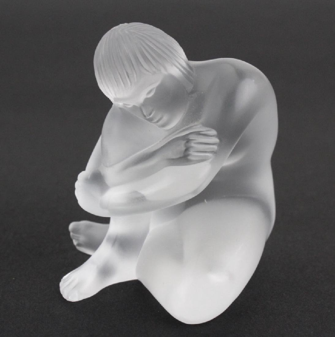 LOT of 3 Lalique French Art Glass Nude Figurine - 4