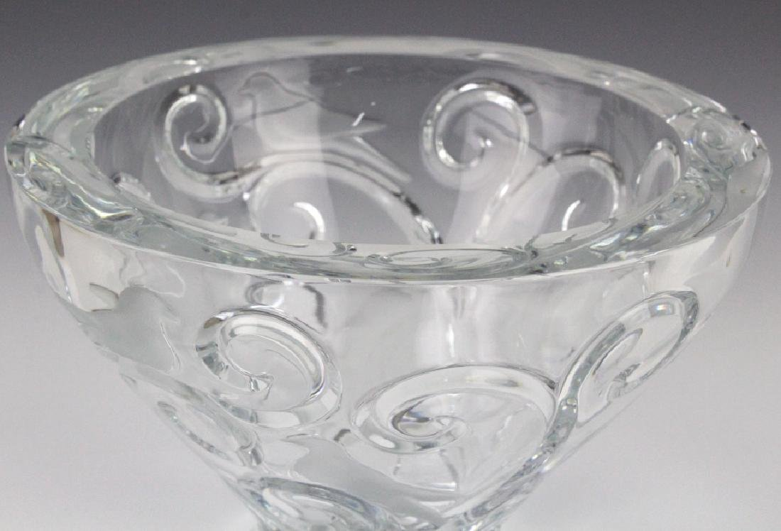 LARGE Lalique French Art Glass VERONE Bird Bowl - 3