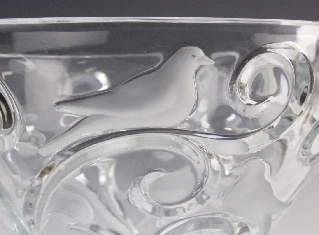 LARGE Lalique French Art Glass VERONE Bird Bowl - 5