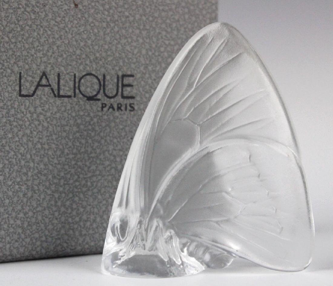 5 x LALIQUE France Art Glass Butterfly Figurine - 3